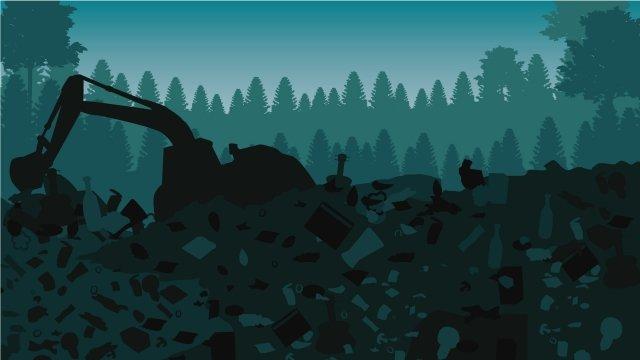 illustration landfill clean up garbage waste llustration image