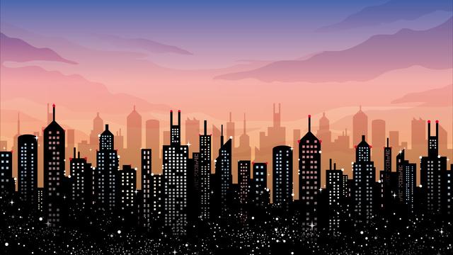 इलस्ट्रेशन लैंडस्केप सिटी बिल्डिंग सिटी चित्रण छवि