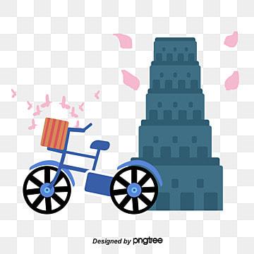 피사 유명한 타워 건물 기울고 타워 삽화 소재 삽화 이미지