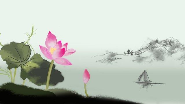 illustration lotus summer lotus leaf llustration image