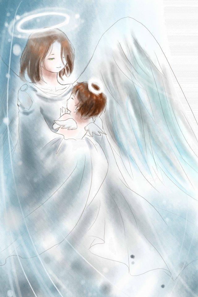 illustration mothers day maternal love angel llustration image