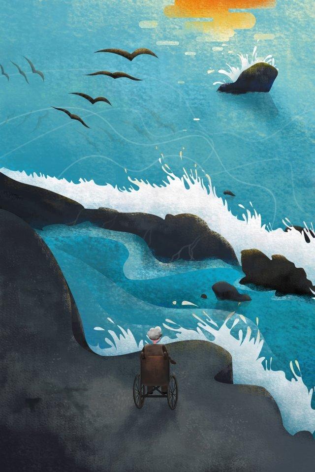 иллюстрация день матери морская волна Ресурсы иллюстрации