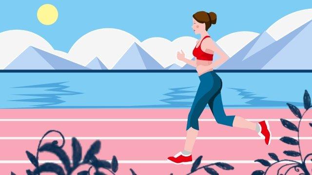 illustration motion work out fitness llustration image