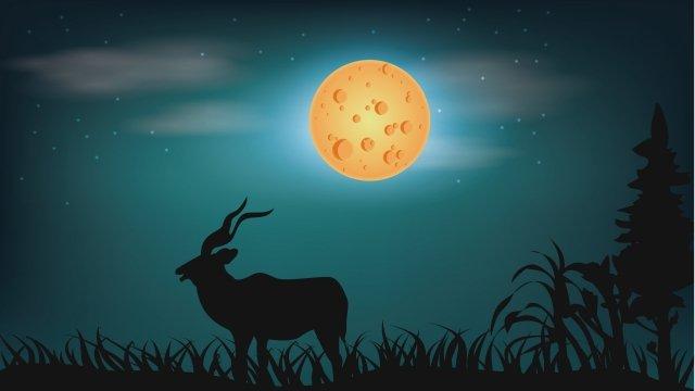 Đêm động vật đêm minh họa Minh họa Động vậtĐêm  động  Vật PNG Và Vector illustration image