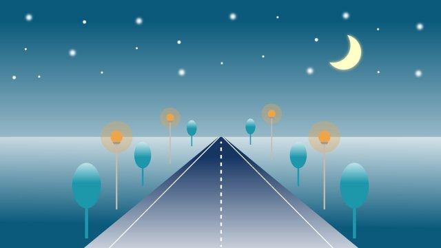 イラスト夜静か静かな夜 イラストレーション画像
