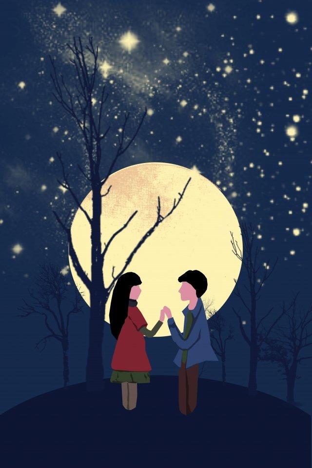 그림 밤 별이 총총 한 하늘 아름 다운 삽화 소재
