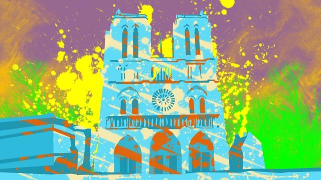 イラストノートルダム・ド・パリ有名なフランス イラスト素材