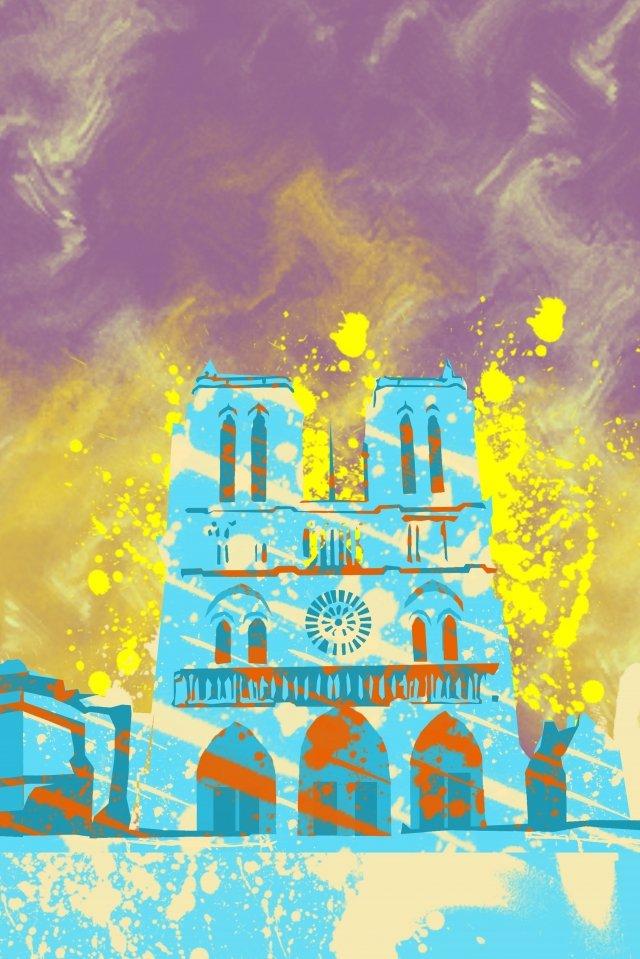 イラストノートルダム・ド・パリ有名なフランス イラスト画像