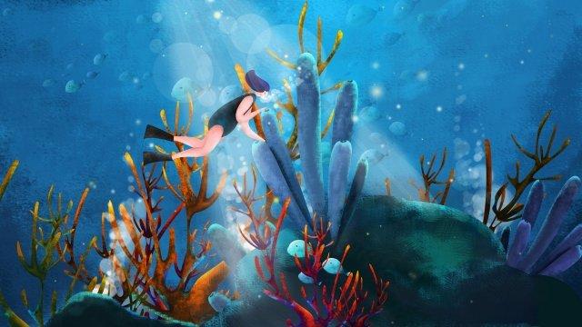 التوضيح، المرجان المحيط، إمرأة متزوجة مواد الصور المدرجة