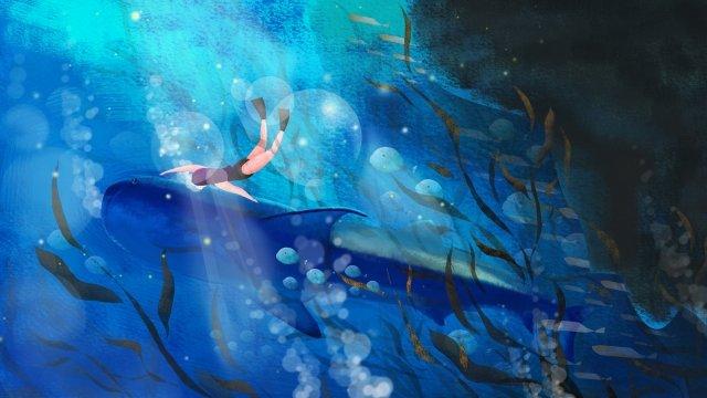التوضيح، المحيط، الدلفين ، الطحلب من البحر مواد الصور المدرجة
