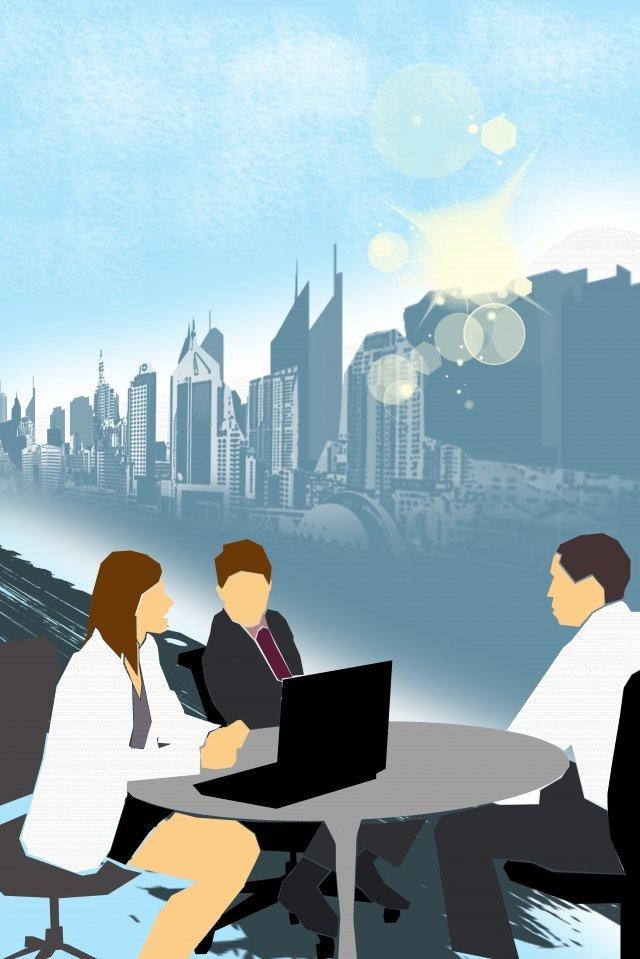 उदाहरण कार्यालय सपाट सरल चित्रण छवि
