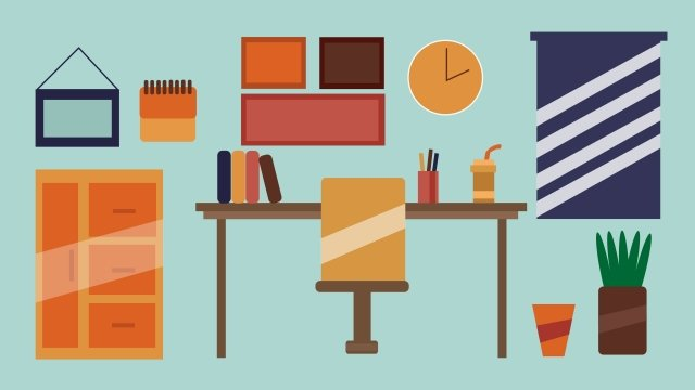 illustration office stationery desk office chair llustration image illustration image