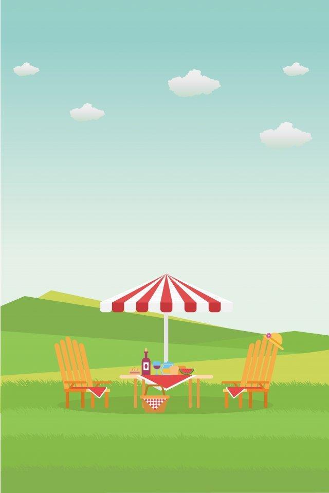 イラスト屋外ピクニックシーンピクニック イラスト素材 イラスト画像