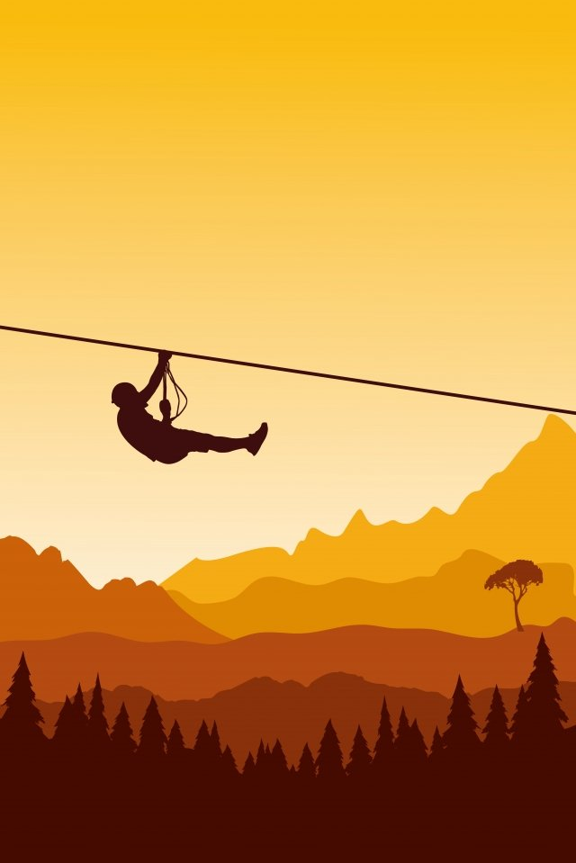 illustration outdoor zip line sports scene extreme sport llustration image