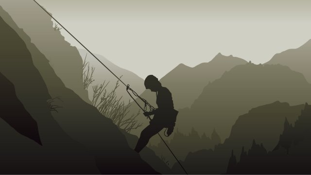 illustration rock climbing mountaineering outdoor sports, Motion, Hiking, Character illustration image
