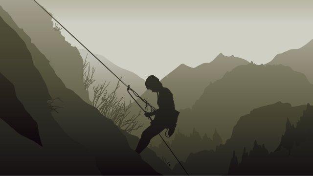 イラストロッククライミング登山アウトドアスポーツ イラスト素材
