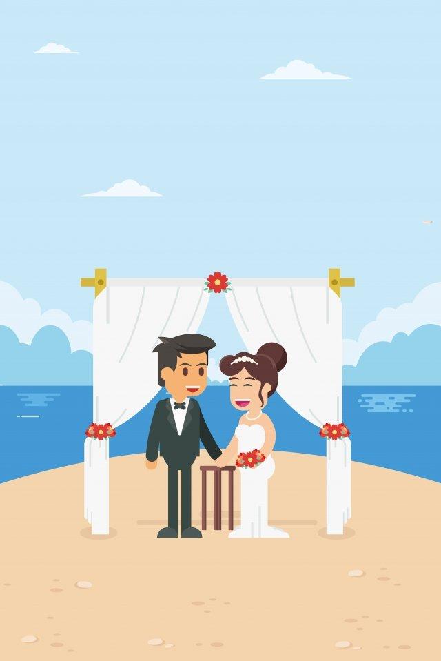イラストシーサイドロマンチックな結婚式結婚式 イラスト素材