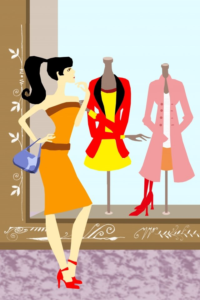 그림 쇼핑 의류 옷 삽화 소재