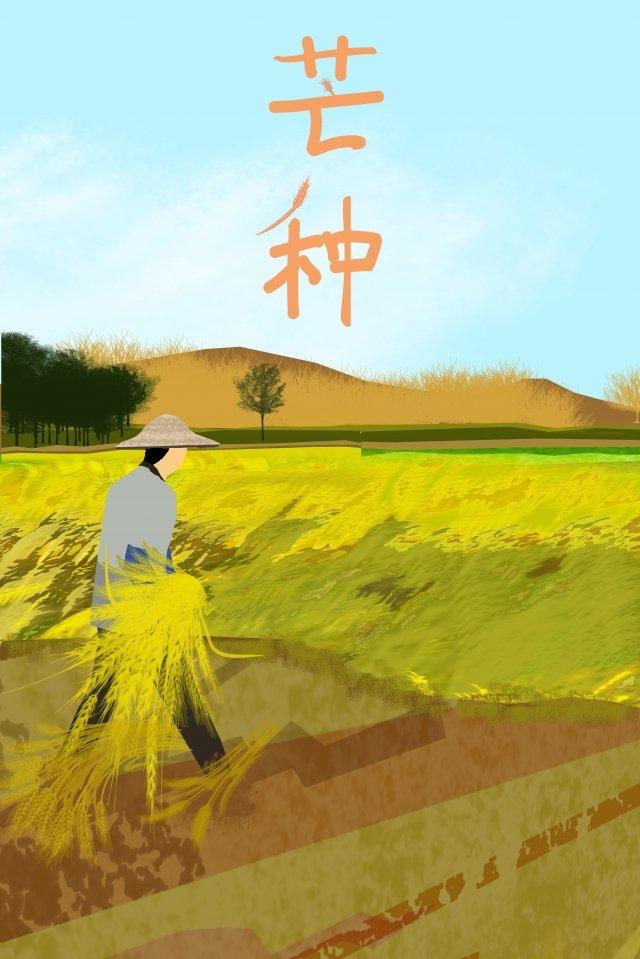 イラスト太陽用語マンゴー種米 イラストレーション画像 イラスト画像
