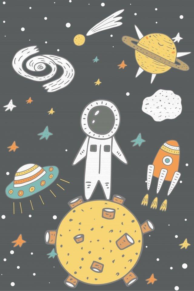 插圖星空宇宙科幻小說 插畫素材 插畫圖片