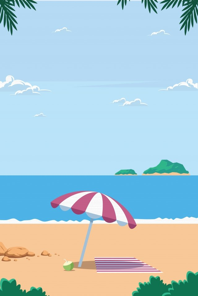 illustration summer beach vacation, Beach Holiday, Summer Vacation, Summer Landscape illustration image