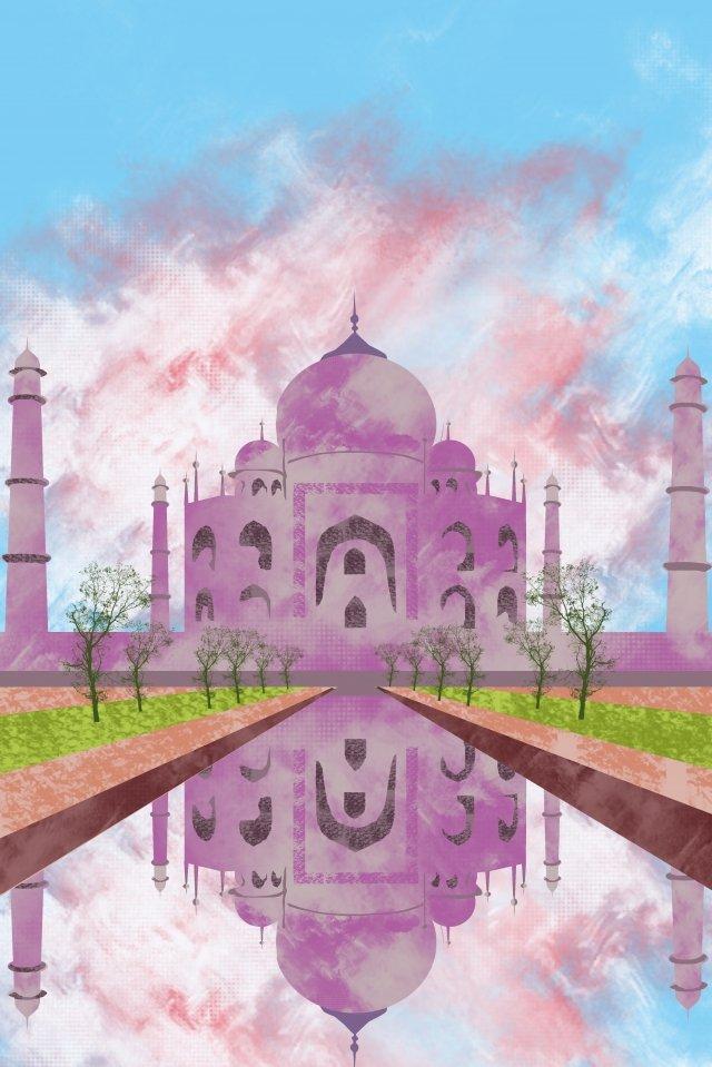 illustration taj mahal famous attractions llustration image