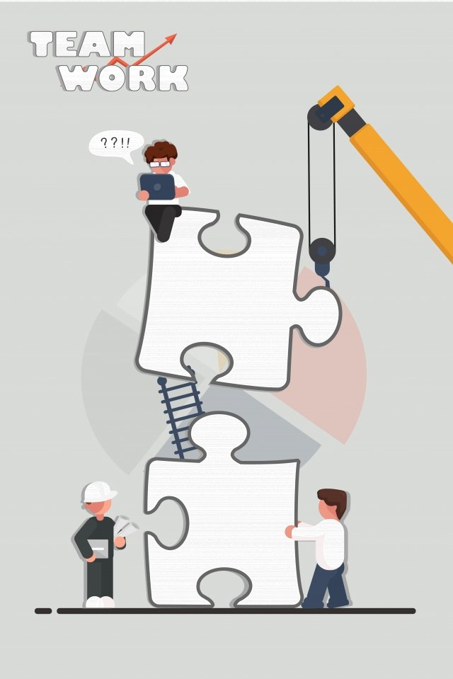 illustration team cooperation performance, White Collar, Improve, Jobs illustration image