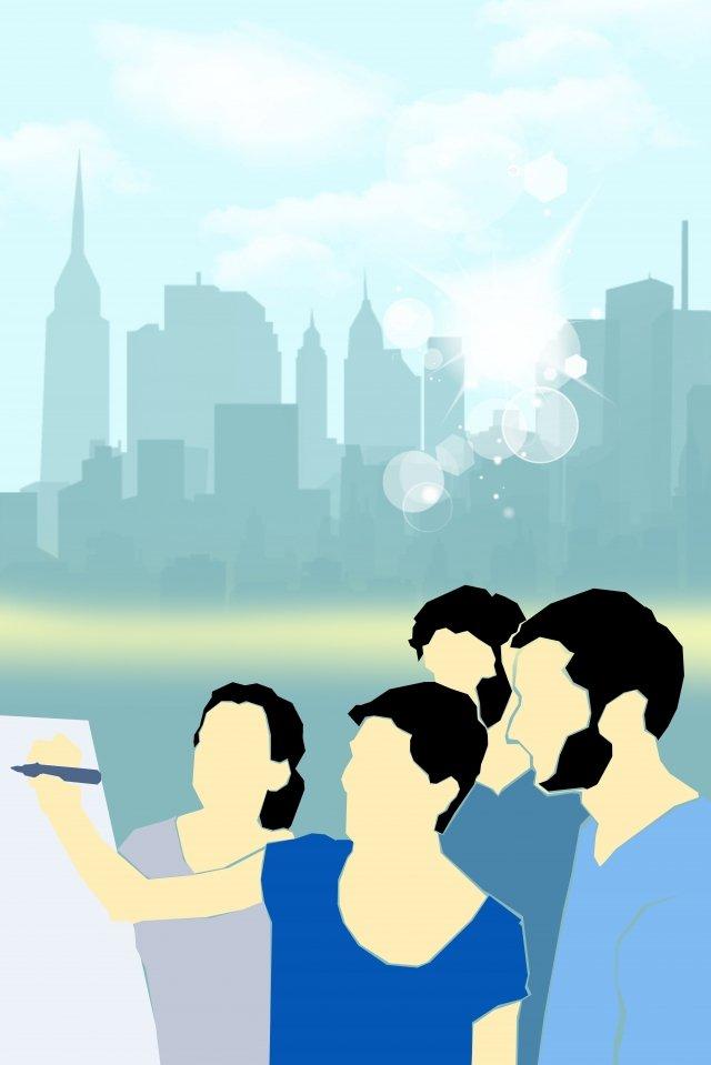 illustrazione piano di pianificazione del team Immagine dell'illustrazione
