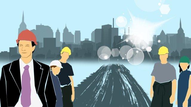 चित्रण टीम टीम फ्लैटसरल  व्यवसाय  निर्माण पीएनजी और PSD illustration image