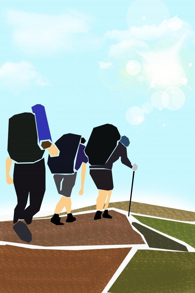 ilustração equipe de equipe ao ar livreCaminhadas  Escalada  De PNG E PSD illustration image