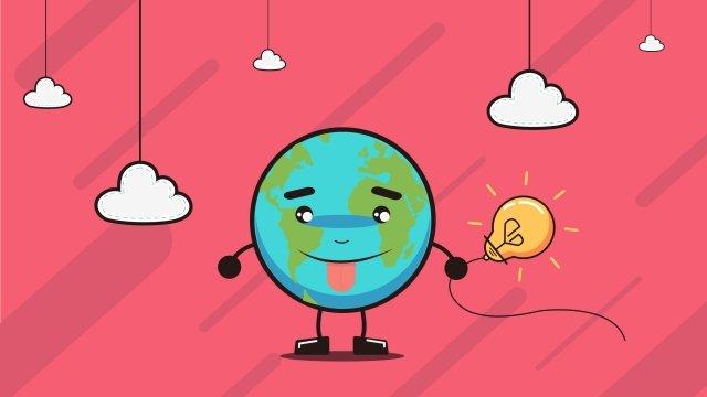 minh họa đám mây ngày trái đất Hình minh họa