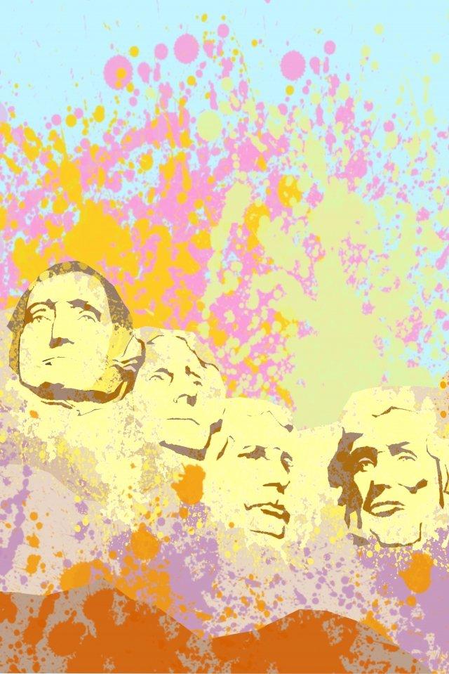 Illustration de la personnalité du président américain Hill Illustration États Unis President Hill Attractions Personnalité Beau Couleur Célèbre Sculpture surPierre  Rock  Illustration PNG Et PSD illustration image