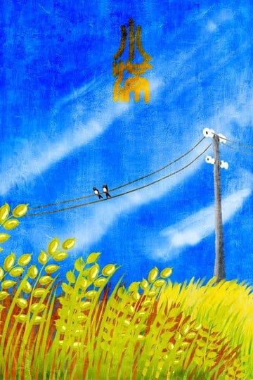 イラスト小学校太陽用語小麦畑 イラスト素材 イラスト画像