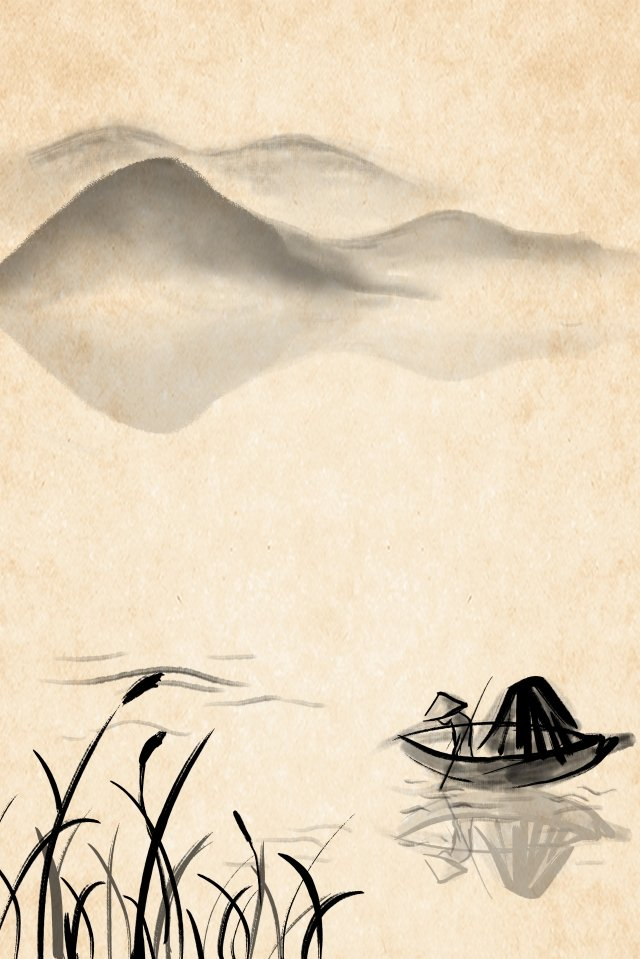 墨水景觀優雅的禪宗 插畫素材 插畫圖片