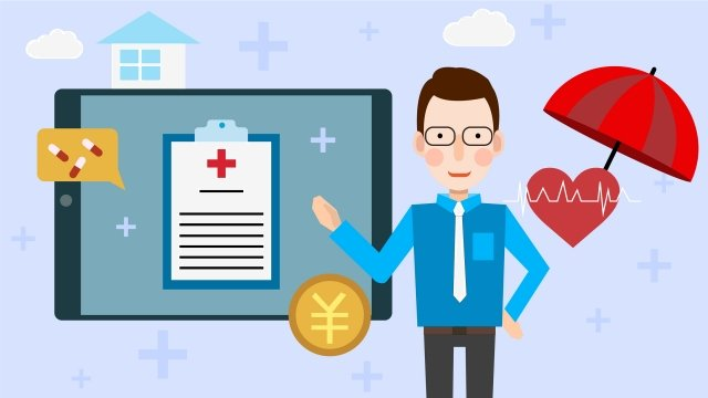 insurance medical property property, Policy, Salesman, Red Heart illustration image