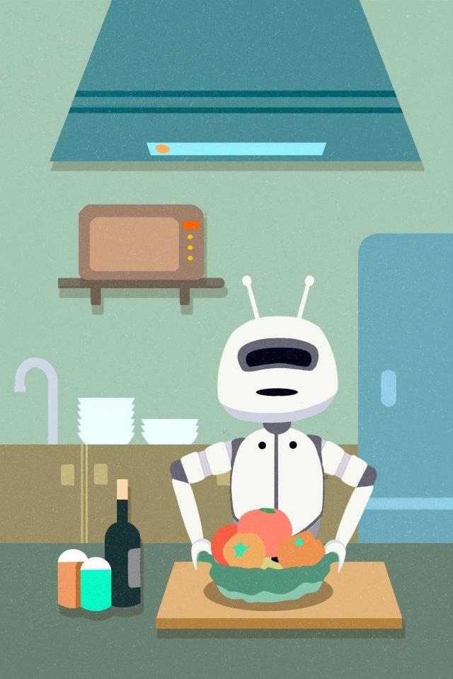 cuisine robot domestique intelligente image d'llustration image d'illustration