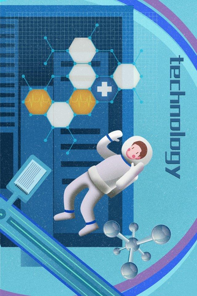интеллектуальные технологии космонавта космической капсулы Ресурсы иллюстрации
