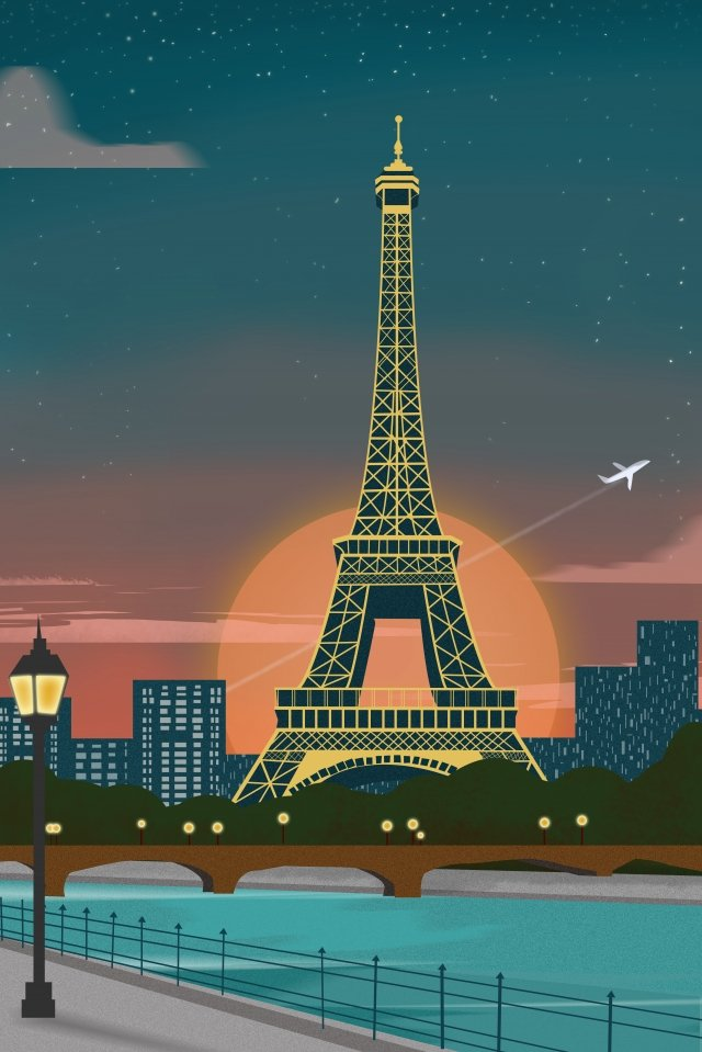 international city scenery architecture france paris llustration image