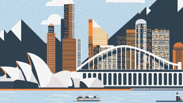 international city sydney opera scenery architecture, Architecture, Illustration, International City illustration image