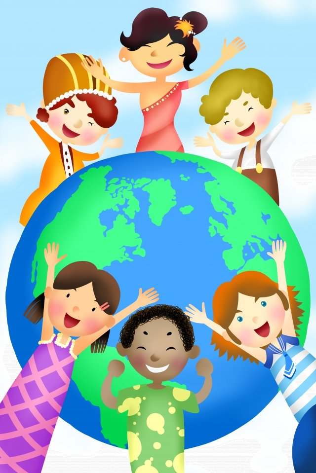 international friendly harmonious friendship, Illustration, Child, Join Hands illustration image