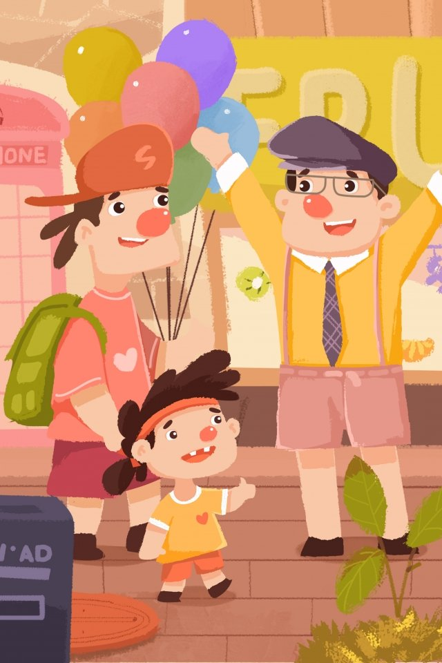 international friendship day child uncle friendship llustration image