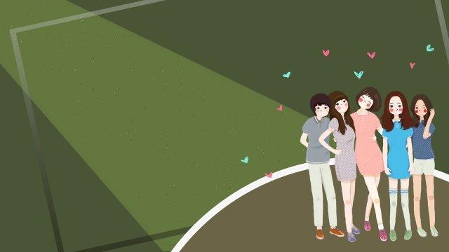 international friendship day friendship friend girl llustration image illustration image