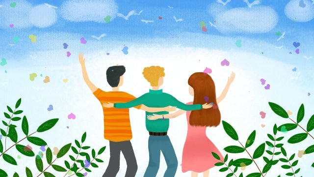 international friendship day pure hand drawing illustration friend llustration image