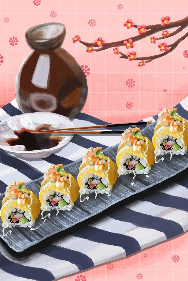 日本食寿司リキュール イラスト素材