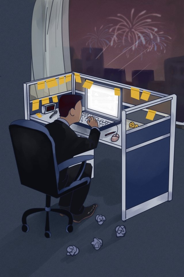 jobs cartoon office go to work llustration image