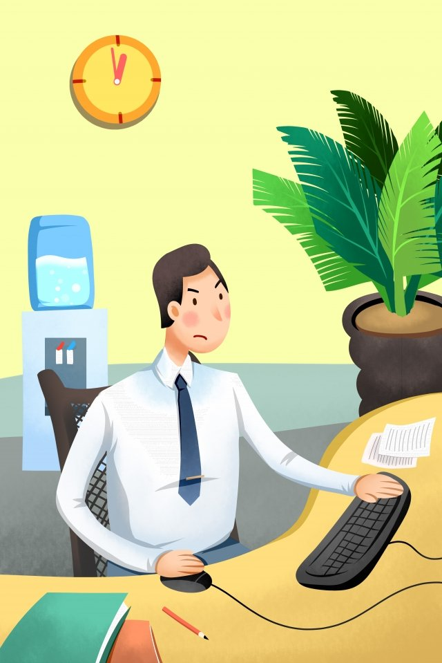 jobs workplace business hand painted illustration image