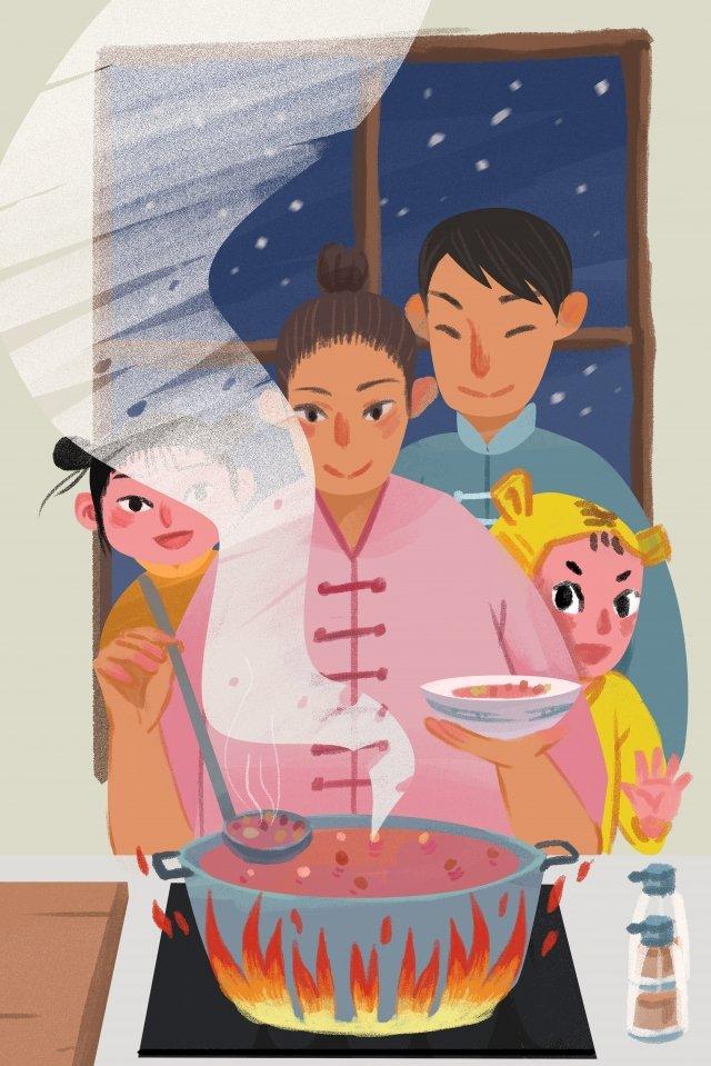 ラバ祭りラバお粥家族太陽用語 イラストレーション画像