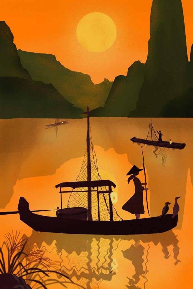 श्रमिक बालिका समुद्री चित्रण छवि चित्रण छवि