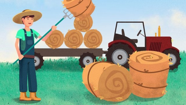 labor day harvest farmer farming, Hard Work, Work, Home illustration image