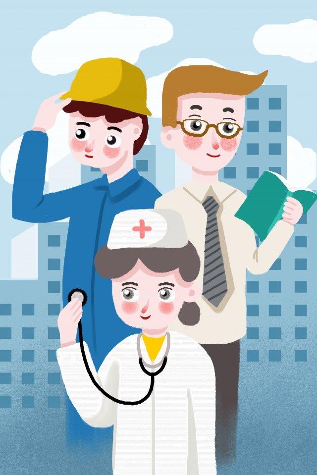 doktor pekerja buruh hari buruh imej keterlaluan imej ilustrasi